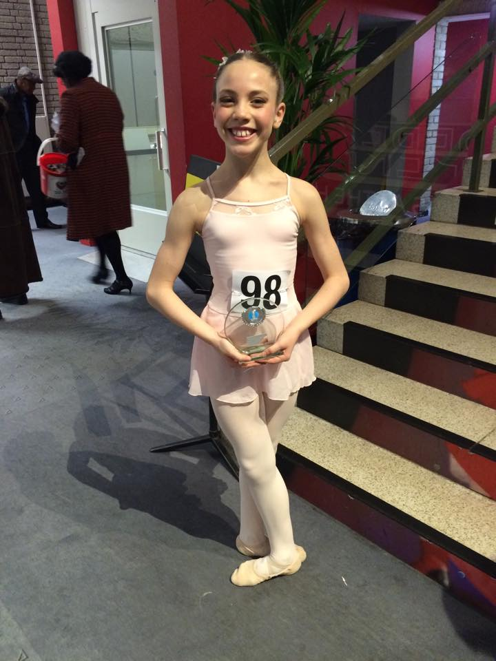 IDTA BALLET GRADES RUNNER UP AND WINNER OF THE VERONICA TWEEDALE AWARD. TANITHA O SULLIVAN AGE 11.